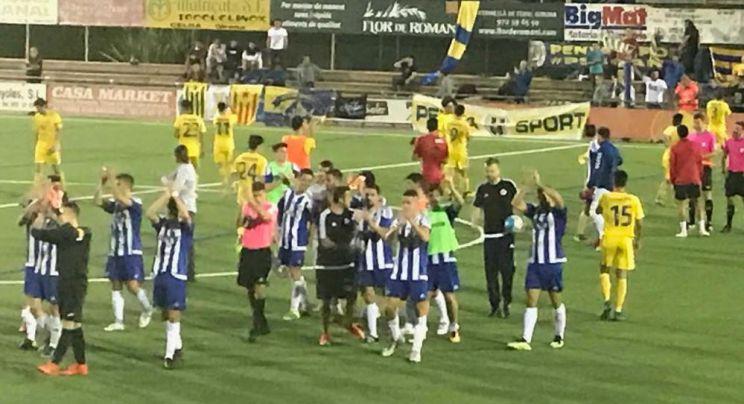 El Palamós no pot amb un Banyoles que acaba amb nou homes (1-0)